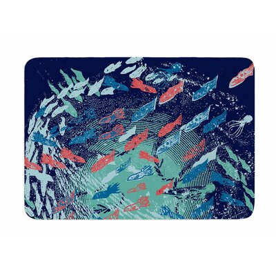 Underwater Life by Frederic Levy-Hadida Memory Foam Bath Mat