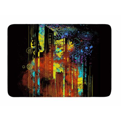 Starry City Lights by Frederic Levy-Hadida Memory Foam Bath Mat