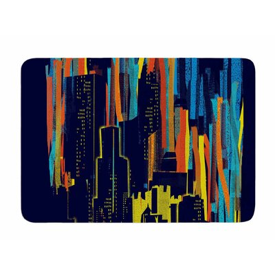 Strippy City by Frederic Levy-Hadida Memory Foam Bath Mat