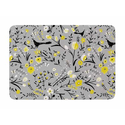 Blackbirds by Laura Nicholson Memory Foam Bath Mat