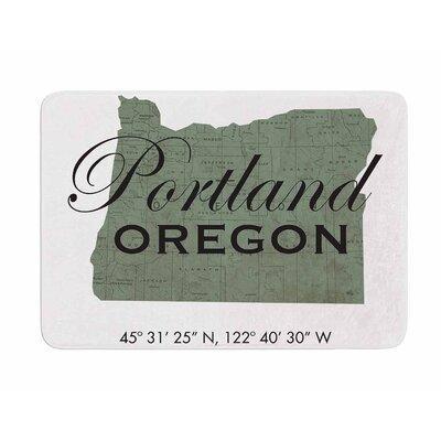 Portland Coordinates by Juan Polo Memory Foam Bath Mat