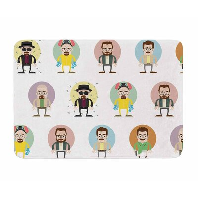 The Stages of Walter White by Juan Polo Memory Foam Bath Mat
