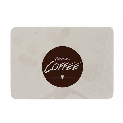 But First, Coffee by Juan Polo Memory Foam Bath Mat