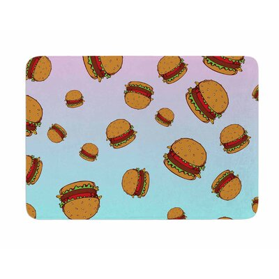 Cheeseburger Paradise by Juan Polo Memory Foam Bath Mat