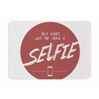 Let Me Take A Selfie by Juan Polo Memory Foam Bath Mat