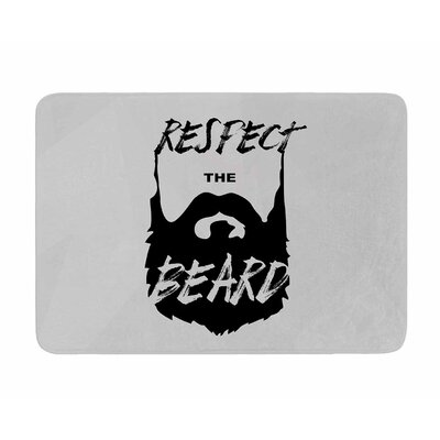Respect the Beard by Juan Pauli Memory Foam Bath Mat