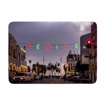 Venice Christmas by Juan Polo Memory Foam Bath Mat