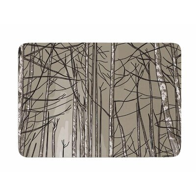 Smokey Forest Fire by Sam Po snick Memory Foam Bath Mat