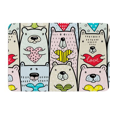 Bear Hugs by Snap Studio Memory Foam Bath Mat