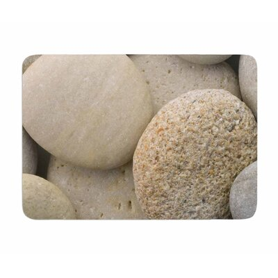 River Stones by Susan Sanders Memory Foam Bath Mat