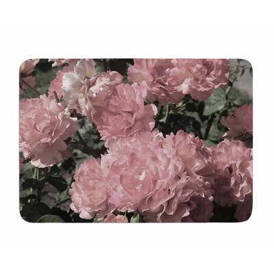 Blush Flowers by Susan Sanders Memory Foam Bath Mat