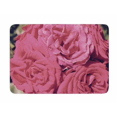 Blush Blooming Roses by Susan Sanders Memory Foam Bath Mat