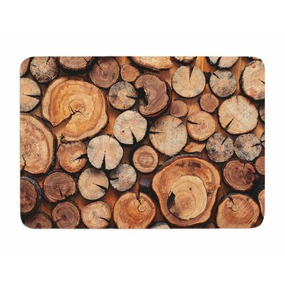 Rustic Wood Logs by Susan Sanders Memory Foam Bath Mat