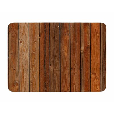 Rustic Wood Wall by Susan Sanders Memory Foam Bath Mat
