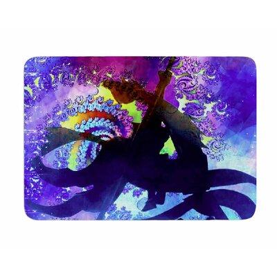 Midnight Horse by AlyZen Moonshadow Memory Foam Bath Mat