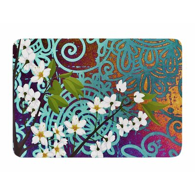 Bird and Blossom by AlyZen Moonshadow Memory Foam Bath Mat