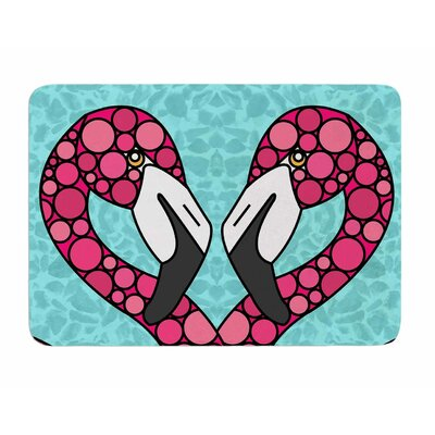 Flamingos by Art Love Passion Memory Foam Bath Mat
