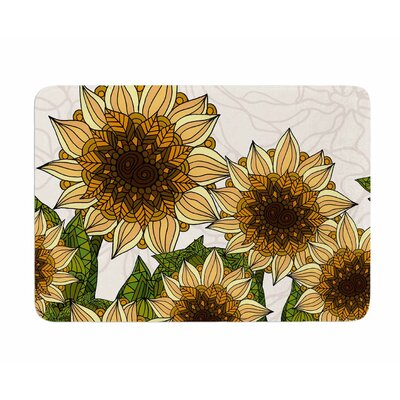 Sunflower Field by Art Love Passion Memory Foam Bath Mat