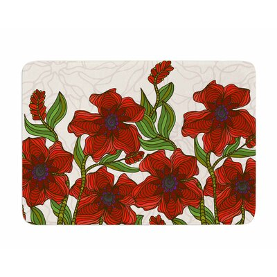 Poppy Field by Art Love Passion Memory Foam Bath Mat