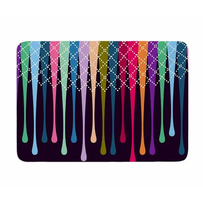 Rainbow Drops by Famenxt Memory Foam Bath Mat