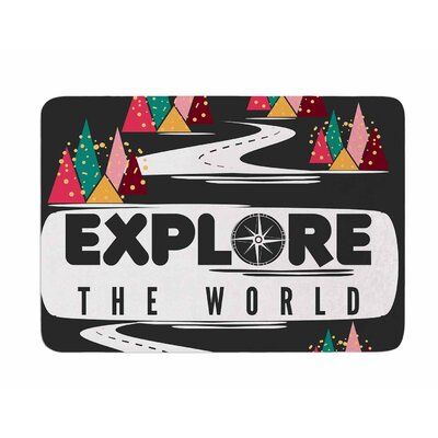 Explore the World by Famenxt Memory Foam Bath Mat