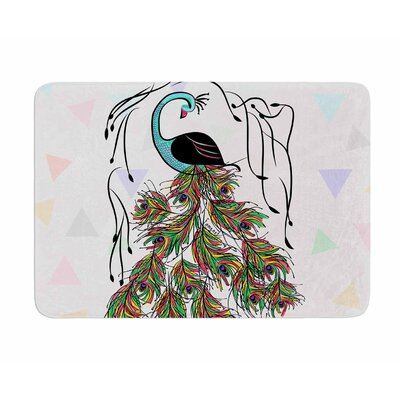 Colorful Peacock by Famenxt Memory Foam Bath Mat