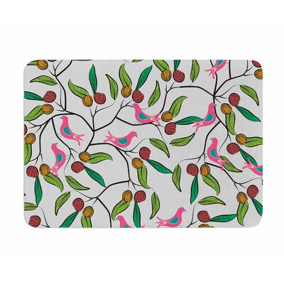Birds World by Famenxt Memory Foam Bath Mat