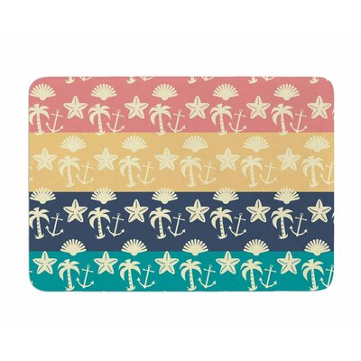 Beach and Fun by Famenxt Memory Foam Bath Mat