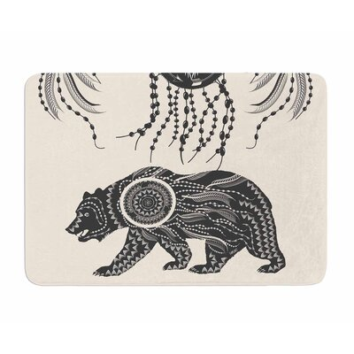 Boho Ornate Bear by Famenxt Memory Foam Bath Mat