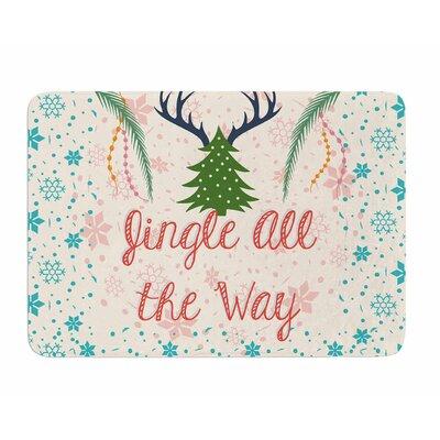 Jingle All the Way by Famenxt Memory Foam Bath Mat