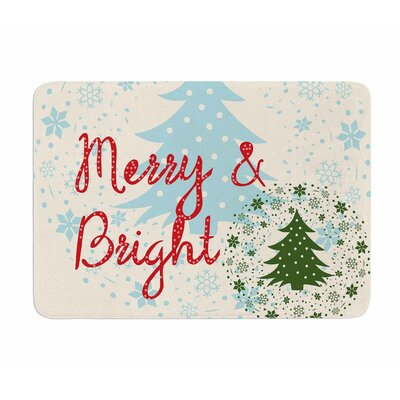 Merry and Bright by Famenxt Memory Foam Bath Mat