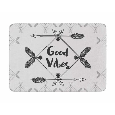 Boho Good Vibes by Famenxt Memory Foam Bath Mat