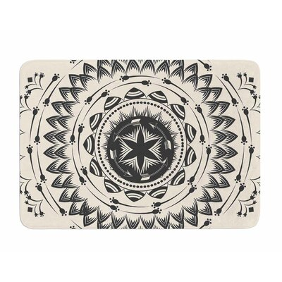 Boho Tribe Mandala by Famenxt Memory Foam Bath Mat