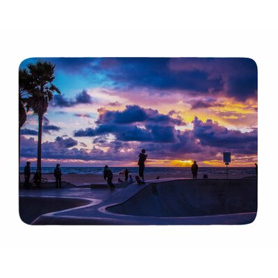 Dog town by Juan Polo Memory Foam Bath Mat