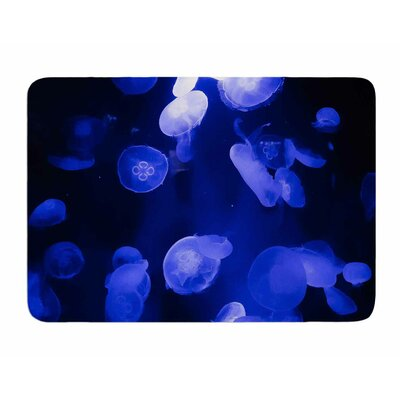 Jellyfish by Juan Polo Memory Foam Bath Mat