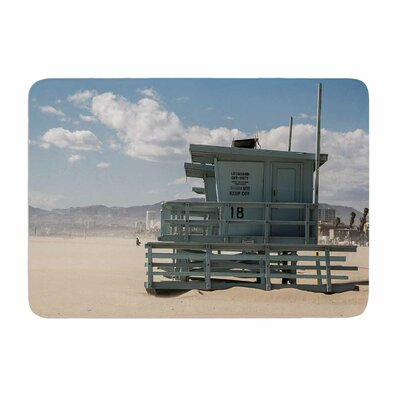 No Lifeguard on Duty by Juan Polo Memory Foam Bath Mat