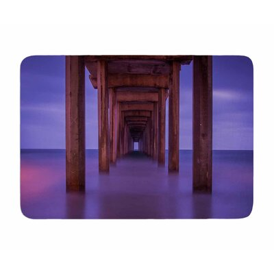Scripps Pier by Juan Polo Memory Foam Bath Mat