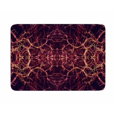Burning Roots I+VIII by Poa Schneider Memory Foam Bath Mat