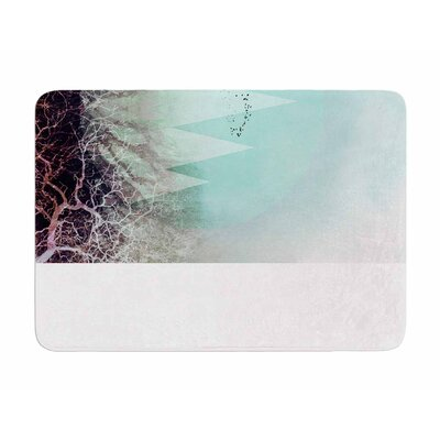 Trees Under Magic Mountains Vi by Poa Schneider Memory Foam Bath Mat
