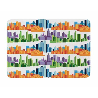 Australian Cities by Stephanie Valet Memory Foam Bath Mat