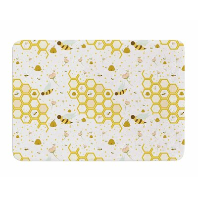 Honey Bees by Stephanie Valet Memory Foam Bath Mat