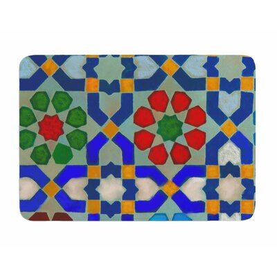 Morrocan Blues by S. Selma Z Memory Foam Bath Mat