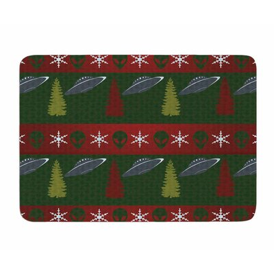Xmas Files by Alias Memory Foam Bath Mat