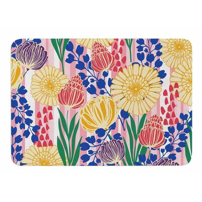 Pretty Bouquet by Amy Reber Memory Foam Bath Mat