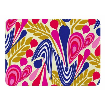 Abstract Bouquet by Amy Reber Memory Foam Bath Mat