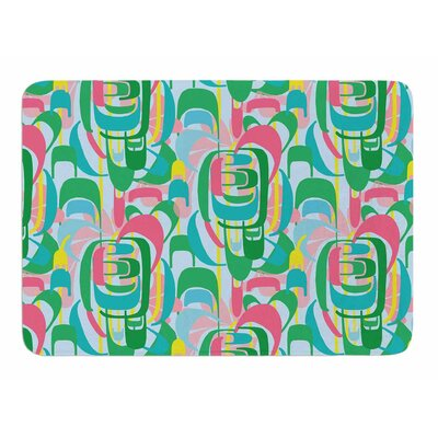 Rainbow Geometric by Amy Reber Memory Foam Bath Mat