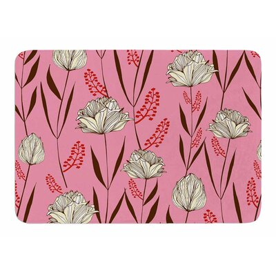 White Floral by Amy Reber Memory Foam Bath Mat