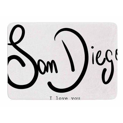 San Diego I Love You by Gabriela Fuente Memory Foam Bath Mat