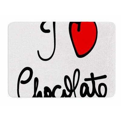 I Love Chocolate by Gabriela Fuente Memory Foam Bath Mat