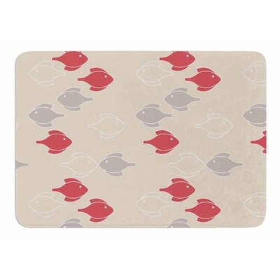 Mayan Fish by Gukuuki Memory Foam Bath Mat